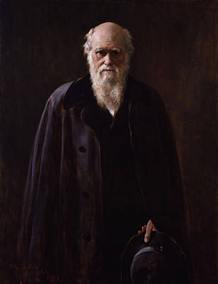 Collier Painting - Charles Darwin - By John Collier by War Is Hell Store