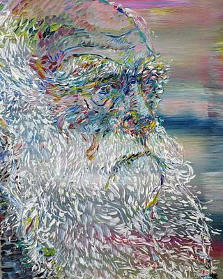 Darwin Painting - Charles Darwin - Oil Portrait by Fabrizio Cassetta