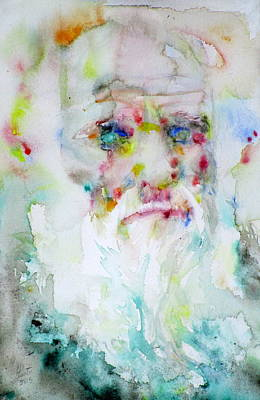 Darwin Painting - Charles Darwin - Watercolor Portrait.5 by Fabrizio Cassetta
