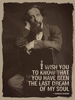 Quotation Digital Art - Charles Dickens Quote by Afterdarkness