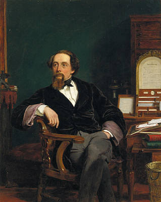 Charles Dickens Painting - Charles Dickens  by MotionAge Designs
