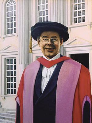 Charles Harpum Receiving Doctorate Of Law Print by Richard Harpum