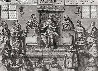 Lord Drawing - Charles I In The House Of Lords, 1648 by Vintage Design Pics