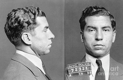Mug Photograph - Charles Lucky Luciano by Granger