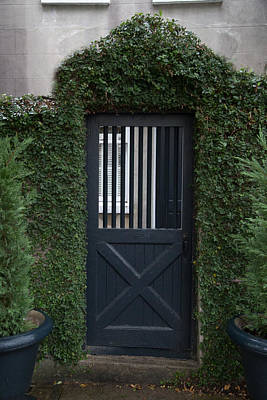 Light Photograph - Charleston Court Yard Door by J Darrell Hutto