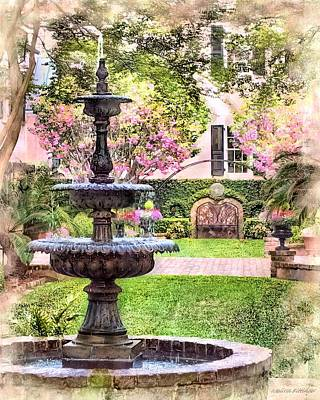 Charleston Fountain Print by Melissa Bittinger