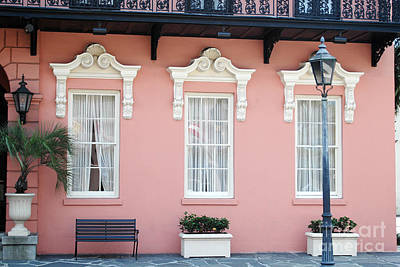 Charleston Historical District - The Mills House - Charleston Architecture  Print by Kathy Fornal