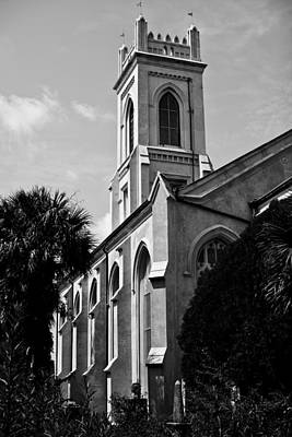 Steeple Photograph - Charleston Unitarian Church by Dustin K Ryan