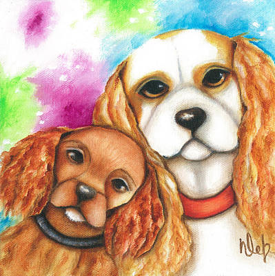Charlie And Gemma Print by Deb Harvey
