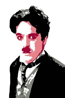 Charlie Chaplin Print by DB Artist