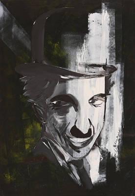 Coman Painting - Charlie Chaplin Portrait 2 by Florin Coman