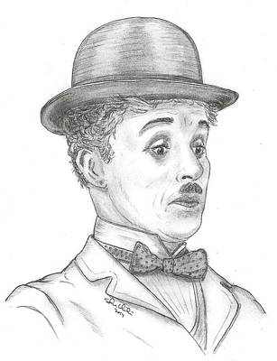 Steven White Drawing - Charlie Chaplin by Steven White