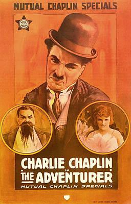 Charlie Chaplin - The Adventurer 1917 Print by Mountain Dreams