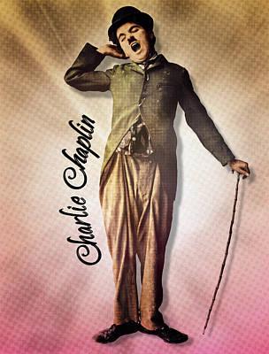 Digital Art - Charlie Chaplin - The Yawn by Darlanne