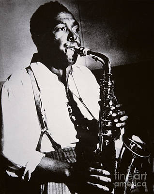 Black And White Bird Photograph - Charlie Parker by American School