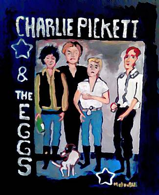 Animation Painting - Charlie Pickett And The Eggs by Gregory McLaughlin