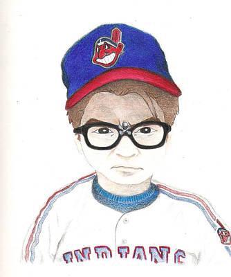 Major League Drawing - Charlie Sheen A.k.a Rick Vaughn by Gerard  Schneider Jr