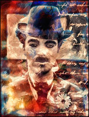Charlot Colors And Poems  Print by Daniel Arrhakis