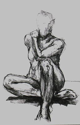 Male Nude Drawing Drawing - Charlotte by Chris  Riley