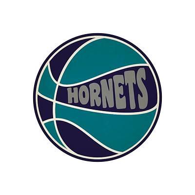 Charlotte Hornets Retro Shirt Print by Joe Hamilton