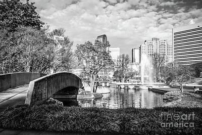Charlotte Marshall Park Black And White Photo Print by Paul Velgos