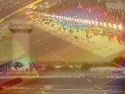 Charlotte Mixed Media - Charlotte Motor Speedway by Kenneth Krolikowski
