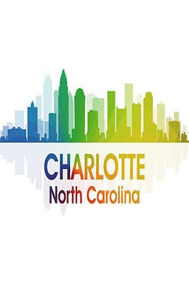 Charlotte Mixed Media - Charlotte Nc 1 Vertical by Angelina Vick