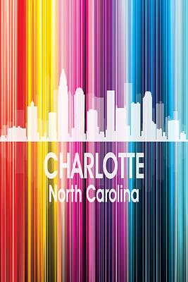 Charlotte Mixed Media - Charlotte Nc 2 Vertical by Angelina Vick