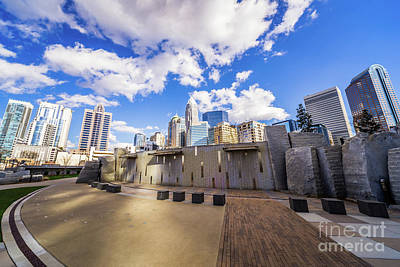 Charlotte North Carolina At Romare Bearden Park Print by Paul Velgos