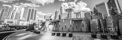 Charlotte Panorama Black And White Photo Print by Paul Velgos