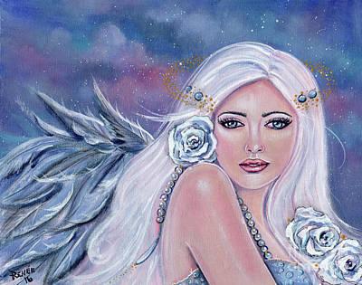 Charmeine Angel Of Harmony Print by Renee Lavoie