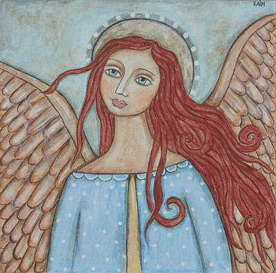 Christian Art . Devotional Art Painting - Charmeine by Rain Ririn