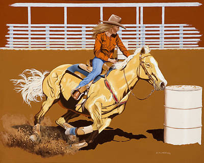 Horses Painting - Chasing The Cans by Hugh Blanding