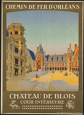 Chateau Mixed Media - Chateau De Blois by David Wagner