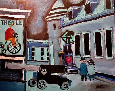 Painting - Chateau  Ramezay Night 1945 by Michael Litvack
