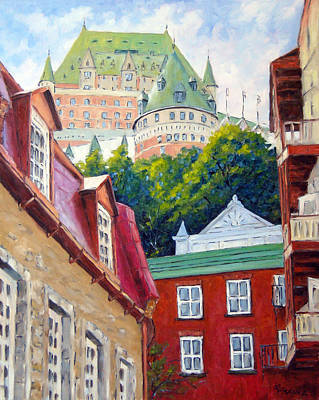 Quebec Painting - Chateau Frontenac 02 by Richard T Pranke