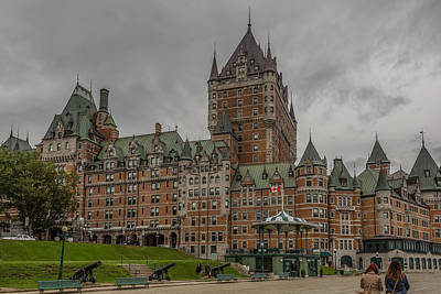 Chateau Mixed Media - Chateau Frontenac by Capt Gerry Hare