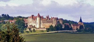 Chateau Photograph - Chateauneuf En Auxois France by Marilyn Dunlap