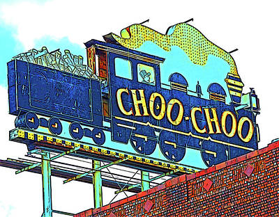Chattanooga Choo Choo Sign On A Sunny Day Print by Marian Bell