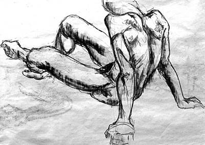 Male Nude Drawing Drawing - Chatto by Chris  Riley