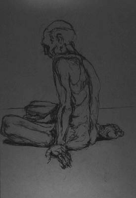 Male Nude Drawing Drawing - Chatto Iv by Chris  Riley