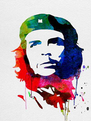 Liberation Digital Art - Che Guevara Watercolor 2 by Naxart Studio