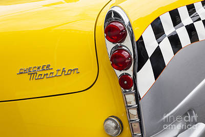 Checker Cab Print by Dennis Hedberg
