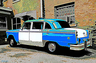Checker Cab Print by Rashelle Brown