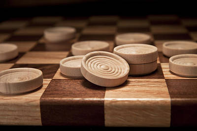 Board Game Photograph - Checkers II by Tom Mc Nemar