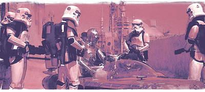 Stormtrooper Digital Art - Checkpoint by Kurt Ramschissel