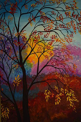 Multihued Painting - Cheerful Forest by Eric Johansen