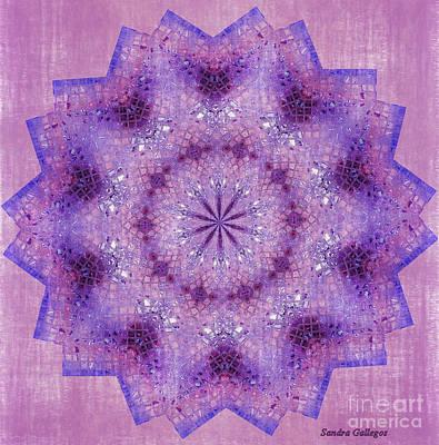 Asian Digital Art - Cheerful Mandala by Sandra Gallegos
