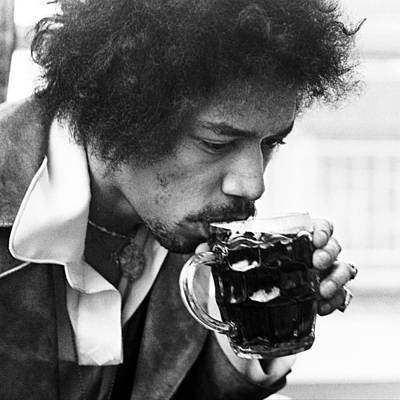 Beer Photograph - Jimi Hendrix Cheers 1969 by Chris Walter
