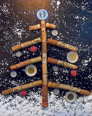 Bottlecaps Painting - Cheers To Christmas by Jilian Cramb - AMothersFineArt